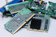 Computer components close view Royalty Free Stock Photos