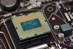 Computer components, CPU Royalty Free Stock Photos