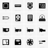Computer components icons Royalty Free Stock Photos