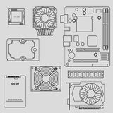 Computer components Stock Image