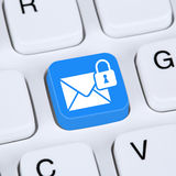 Computer concept sending encrypted E-Mail protection secure mail Stock Photo