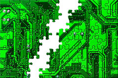 Computer conceptual background Royalty Free Stock Photos