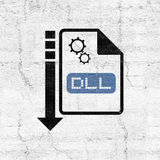 Computer configuration dll file icon. Design of computer configuration dll file icon royalty free illustration