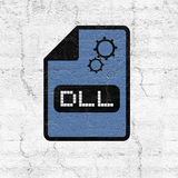 Computer configuration dll file icon. Design stock illustration