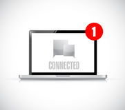 Computer connected communication concept message Royalty Free Stock Photos