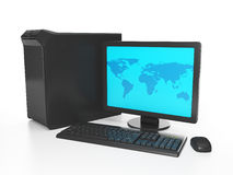 Computer connected to Royalty Free Stock Photo