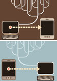 Computer Connection - vector illustration Royalty Free Stock Photo