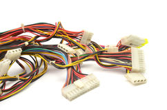 Computer connection wires. On white background Royalty Free Stock Photography