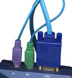 Computer Connection Wires Royalty Free Stock Photo