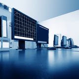 Computer control room Royalty Free Stock Images