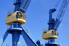 Computer controlled cranes Royalty Free Stock Images