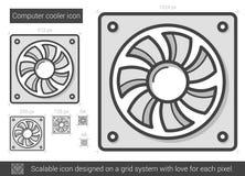 Computer cooler line icon. Royalty Free Stock Photos