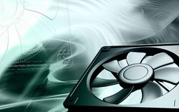 Computer cooling fan Royalty Free Stock Image