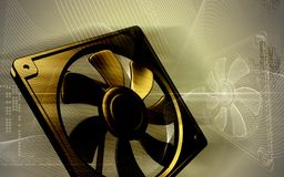 Computer cooling fan Stock Photo