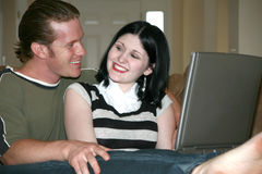 Computer Couple Stock Photo