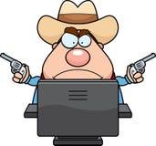 Computer Cowboy Stock Photo