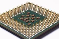 Computer-CPU auf Weiß Lizenzfreies Stockbild