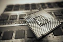 Computer cpu. & x28;central processor unit& x29 stock images
