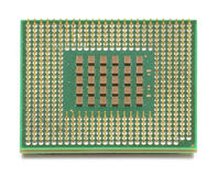 Computer CPU Chip. Modern Computer CPU Processor Chip Royalty Free Stock Images