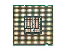 Computer CPU Chip Isolated Royalty Free Stock Photography