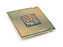 Computer CPU Chip Isolated Stock Photography