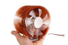 Computer cpu cooler Royalty Free Stock Images