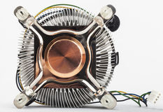 Computer cpu cooler close up Royalty Free Stock Photography