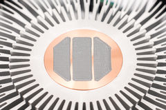 Computer CPU Heatsink And Thermal Paste Royalty Free Stock Photography