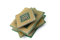 Computer CPU isolated Stock Photos