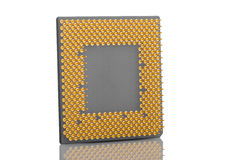 Computer CPU Isolated On White Royalty Free Stock Photo