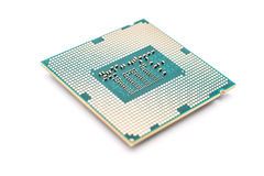 Computer CPU Isolated On White Stock Images