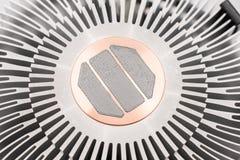 Computer CPU-Kühlkörper und thermische Paste Stockfoto