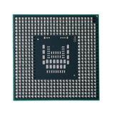 Computer cpu op een witte lichte achtergrond Stock Afbeelding