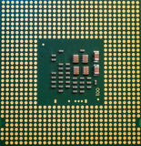 Computer CPU Processor Chip from the bottom side Stock Photos