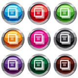 Computer CPU processor chip set 9 collection vector illustration