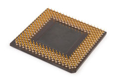 Computer CPU Processor Chip. On white background Royalty Free Stock Photography