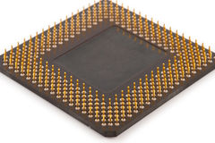 Computer CPU Processor Chip. On white background Stock Photo