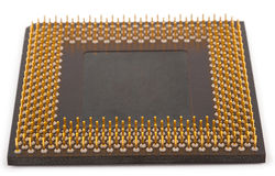 Computer CPU Processor Chip. On white background Royalty Free Stock Image