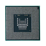 Computer CPU on a white light background Stock Image