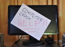 Computer crash royalty free stock photos