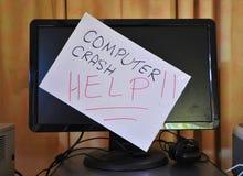 Computer crash Royalty Free Stock Photos
