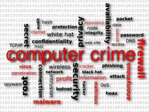 Computer Crime. An image of words related to computer crime and hacking Royalty Free Stock Photography
