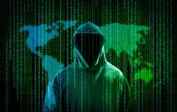 Computer crime concept. Royalty Free Stock Photo