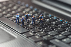 Computer Crime Concept. Macro photo.  stock images