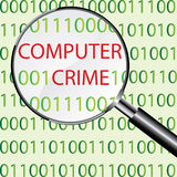 Computer crime concept Stock Photography