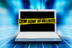 Computer crime concpet Stock Photo