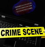Computer crime print Stock Photo
