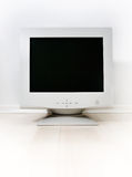 Computer CRT monitor on a bright background.  Royalty Free Stock Photography