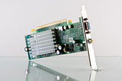 Computer Curicuit Board. A internal curcuit boatd from a computer Stock Photo