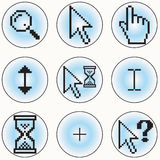Computer cursor icons. A selection of different cursor designs - additional ai and eps format available on request Royalty Free Stock Image
